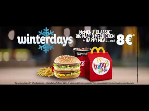McDonald's Winterdays - McMenu Classic + 1 Happy Meala 8€