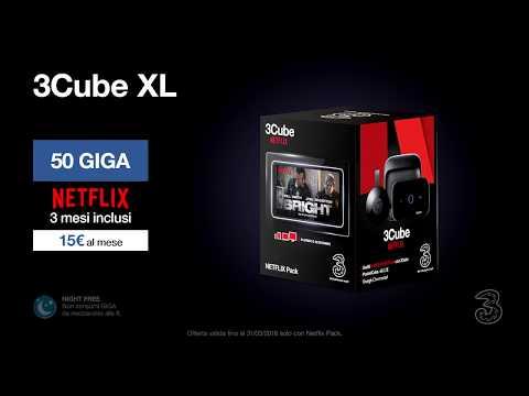 Offerta 3Cube XL con Netflix