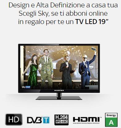sky offerta TV led 19 pollici