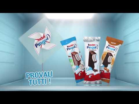 Freschi Kinder: Kinder Pinguì - Cocco Cioccolato Caramello 15 sec