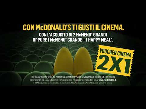 McDonald's - Big Mac si fa in tre - Cinema 2x1