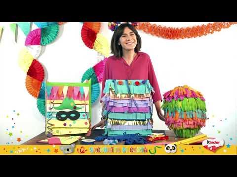 Kinder - Carnevale Tutorial Pentolaccia Fai Da Te